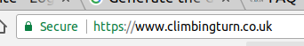Premium Certificate shown in Address bar of browser